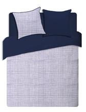 Achat en ligne Housse de couette 240x220cm en percale fil tissé bleu encre