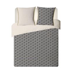 compra en línea Funda nórdica de percal gris estampado Zimba (240 x 220 cm)