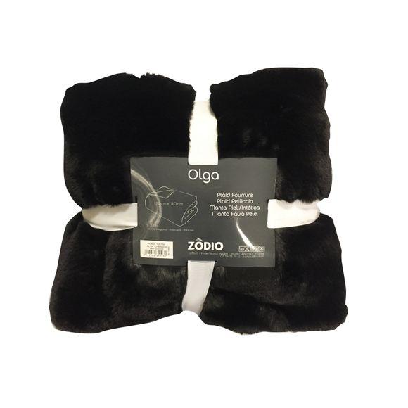 acquista online Plaid in ecopelliccia nero 125x150cm Zodio