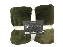 Achat en ligne Plaid en fausse fourrure vert lichen Olga 125x150cm