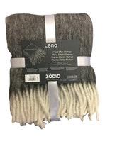Achat en ligne Plaid effet mohair à franges gris souris Lena 125x150cm