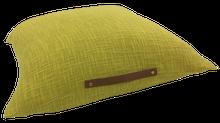 Achat en ligne Coussin de sol uni avec anse en cuir jaune curry Junga 60x60