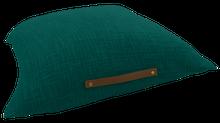Achat en ligne Coussin de sol uni avec anse en cuir malachite Junga 60x60cm