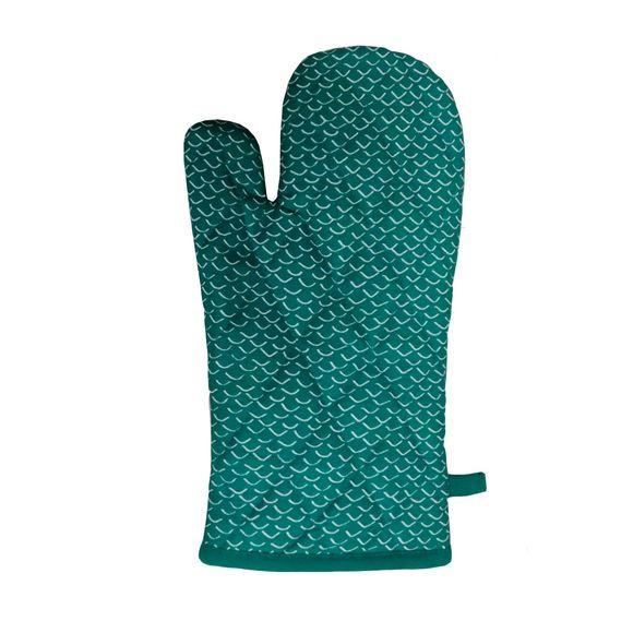 Gant de cuisine imprimé coton garniture polyester, sienne