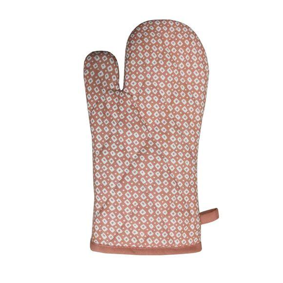 Guanto da forno in cotone rosa antico