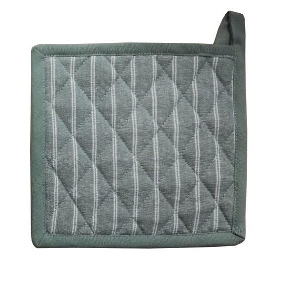 Guanto da forno in cotone grigio