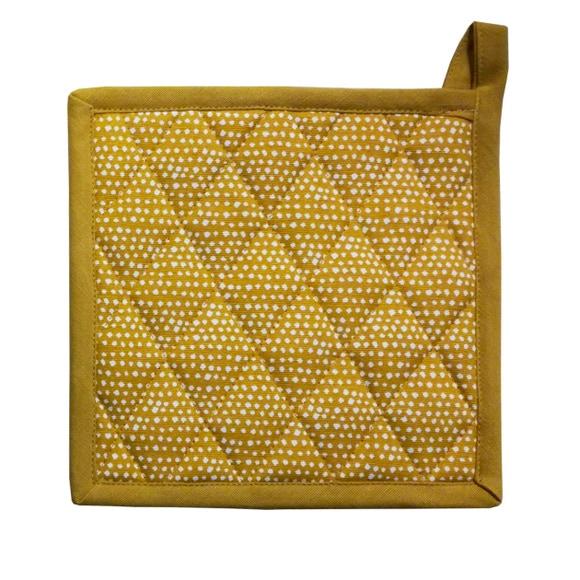 Achat en ligne Manique imprimée coton garniture polyester, curry
