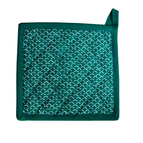 Achat en ligne Manique imprimée coton garniture polyester, malachite