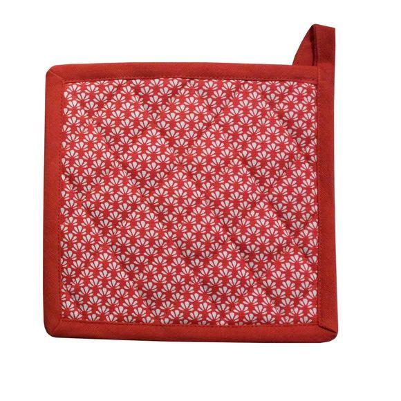 Presina da forno in cotone rosso