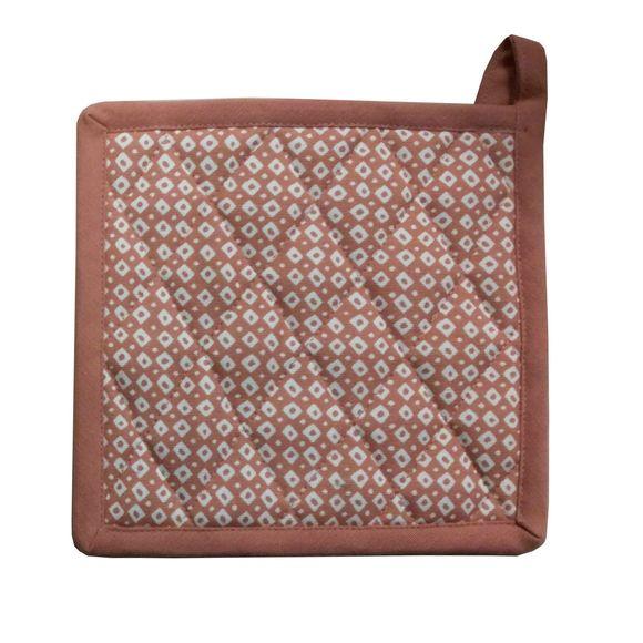 Manique imprimée coton garniture polyester, fane