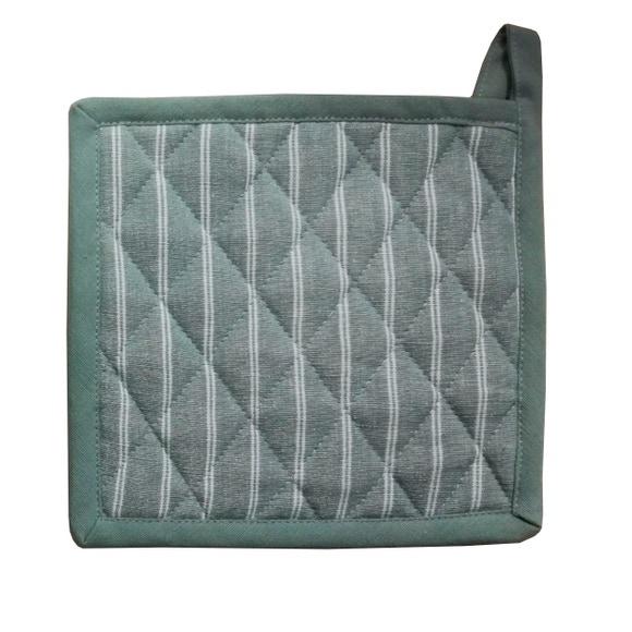 Achat en ligne Manique tissé-teint coton garniture polyester, fumée