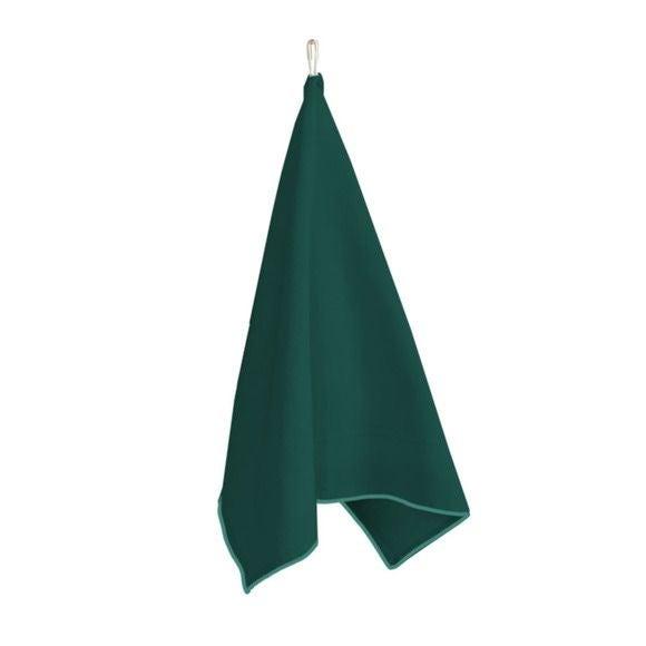 Canovaccio 100% cotone con decoro verde