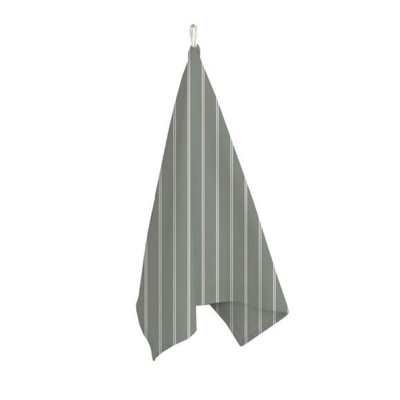 Canovaccio 100% cotone grigio a righe