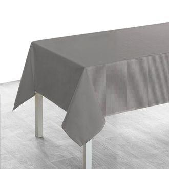 Nappe carrée 150x150 cm tissé teint en coton souris