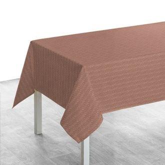 Nappe 150x250 cm imprimé en coton terracota