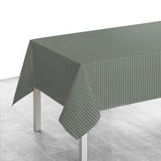 Nappe carrée 150x250 cm tissé teint en coton fumée