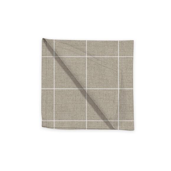 Achat en ligne Serviette de table 45x45 cm tissé teint en coton tourterelle