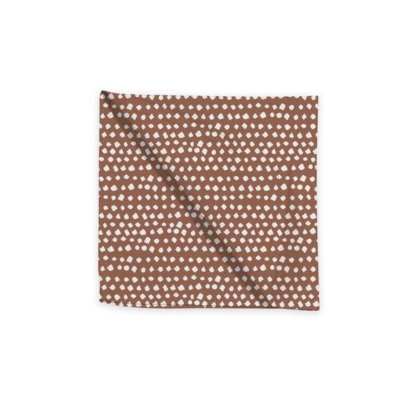 Tovagliolo in cotone con decori, terracotta, 45x45 cm