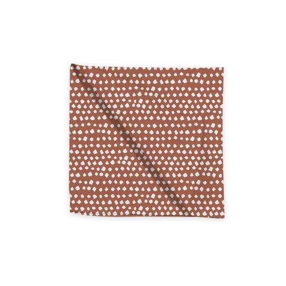 Achat en ligne Serviette de table 45x45 cm imprimé en coton terracota