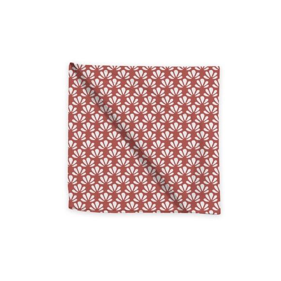 Achat en ligne Serviette de table 45x45 cm imprimé en coton grenade
