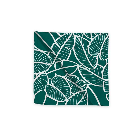 Serviette de table 45x45 cm imprimé en coton malachite