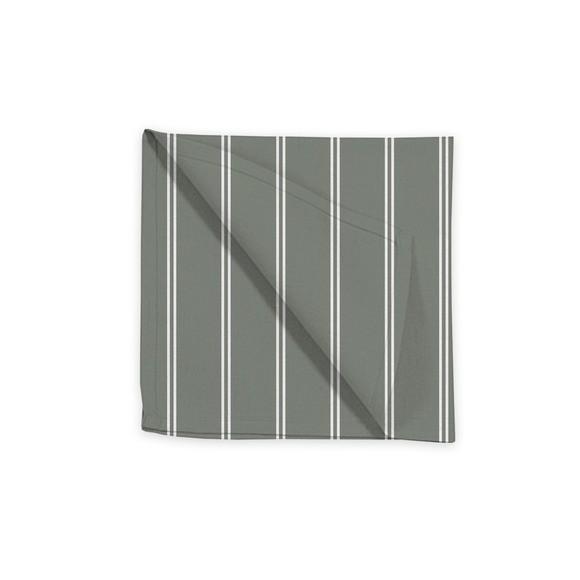Tovagliolo in cotone a righe grigio e bianco, 45x45 cm