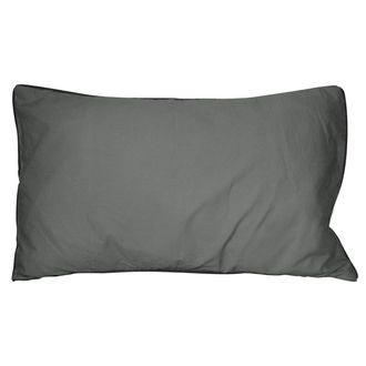 Coussin en coton lavé gris souris ines 30x50cm
