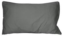 Achat en ligne Coussin en coton lavé gris souris Ines 30x50cm