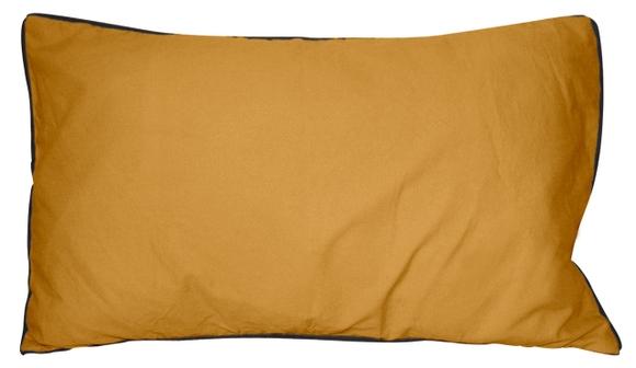 Achat en ligne Coussin en coton lavé jaune curry Ines 30x50cm