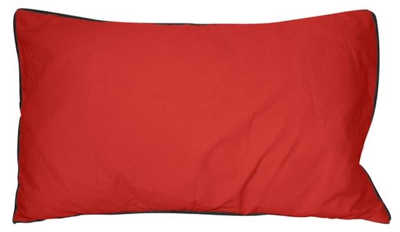 Achat en ligne Coussin en coton lavé rouge grenade Ines 30x50cm