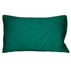 compra en línea Cojín de algodón lavado verde con ribete negro Ines (30 x 50 cm)