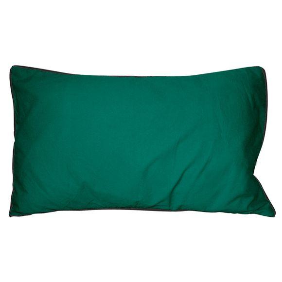 Cuscino rettangolare in cotone delavé verde 30x50cm
