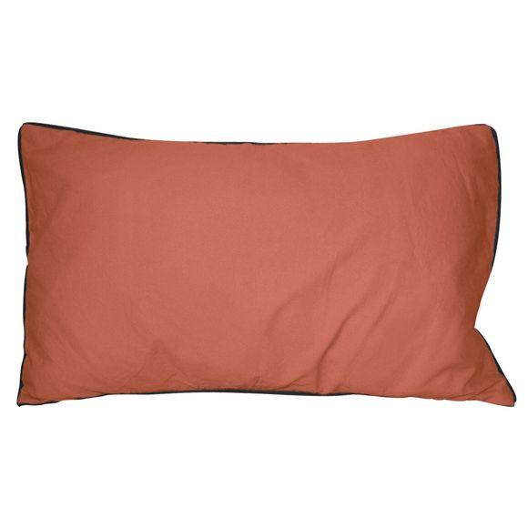 Cuscino rettangolare in cotone delavé rosso 30x50cm