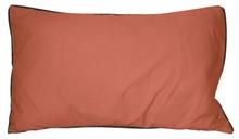 Achat en ligne Coussin en coton lavé rouge terracotta Ines 30x50cm
