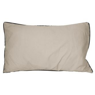 Coussin en coton lavé gris tourterelle ines 30x50cm