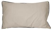 Achat en ligne Coussin en coton lavé gris tourterelle Ines 30x50cm