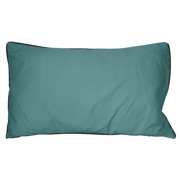 Cuscino rettangolare in cotone delavé blu 30x50cm