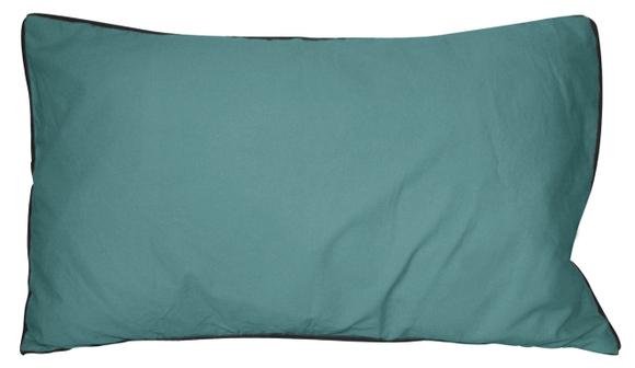Achat en ligne Coussin en coton lavé bleu postal Ines 30x50cm