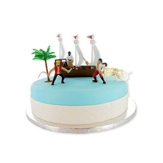 PATISDECOR - Kit déco gateau bateau pirate