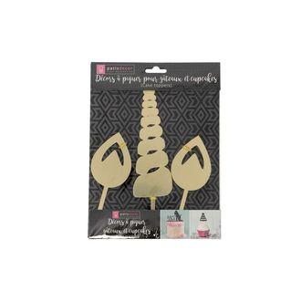 PATISDECOR - Kit décor corne et oreilles licorne