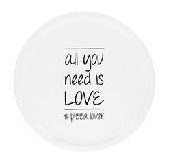 Achat en ligne Assiette à pizza All you need is love 30,5 cm