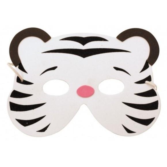 Masque tigre blanc enfant