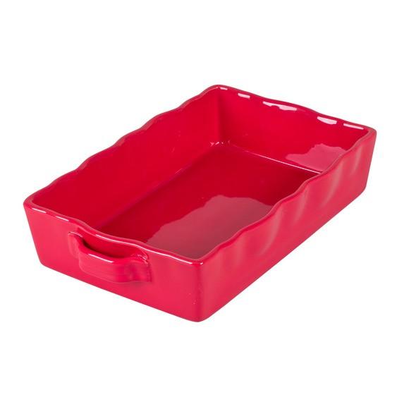 Pirofila rosso, 33x21 cm