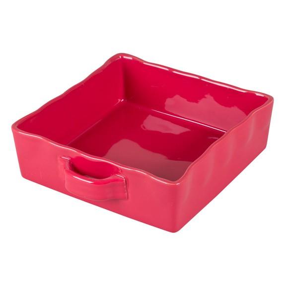 acquista online Pirofila quadrata rosso 23x23 cm