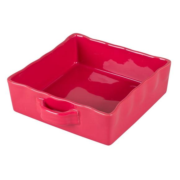 Achat en ligne Plat à four carré 23cm rouge