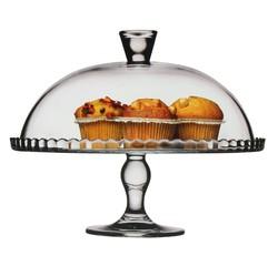 Achat en ligne Plat à tarte en verre sur pied avec cloche D32 cm