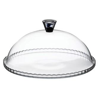 PASABAHCE - Plat à tarte en verre avec cloche D32 cm