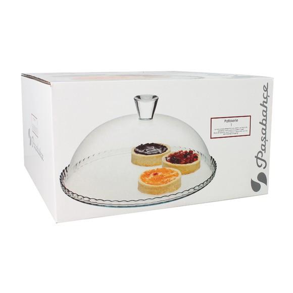 Achat en ligne Plat à tarte en verre avec cloche D32 cm