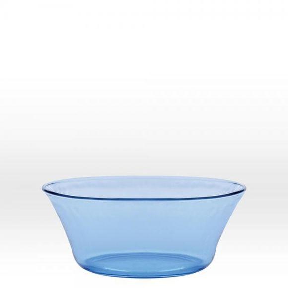 Insalatiera in vetro, azzurro  Ø17 cm