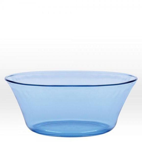 Insalatiera in vetro, azzurro  Ø23 cm